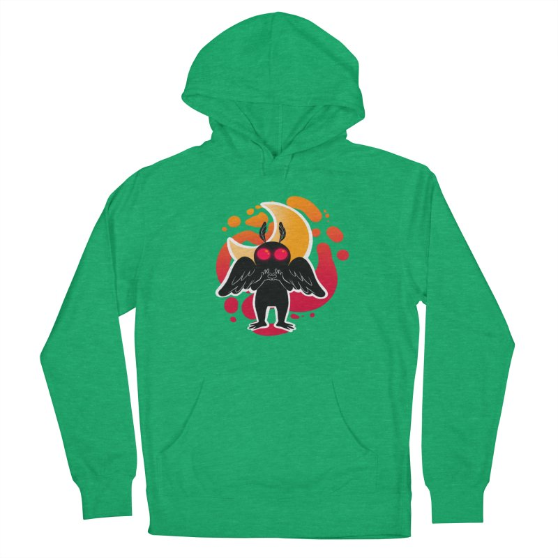 Mothman sends his love Men's French Terry Pullover Hoody by AnimeGravy