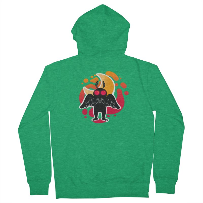 Mothman sends his love Men's French Terry Zip-Up Hoody by AnimeGravy