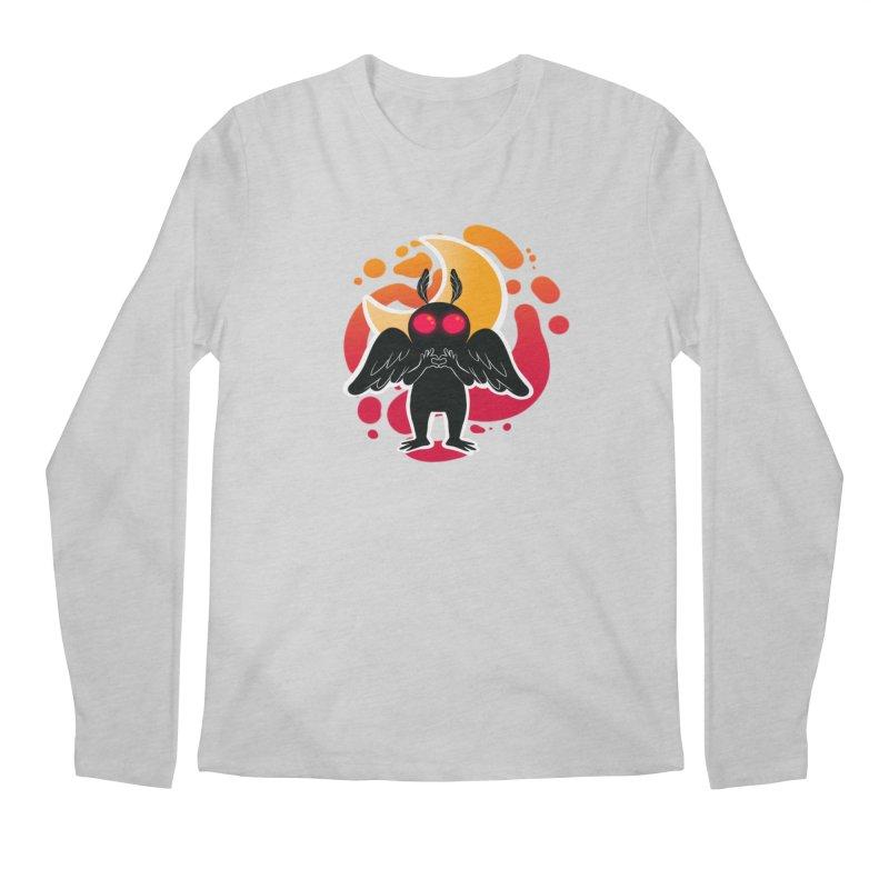Mothman sends his love Men's Regular Longsleeve T-Shirt by AnimeGravy