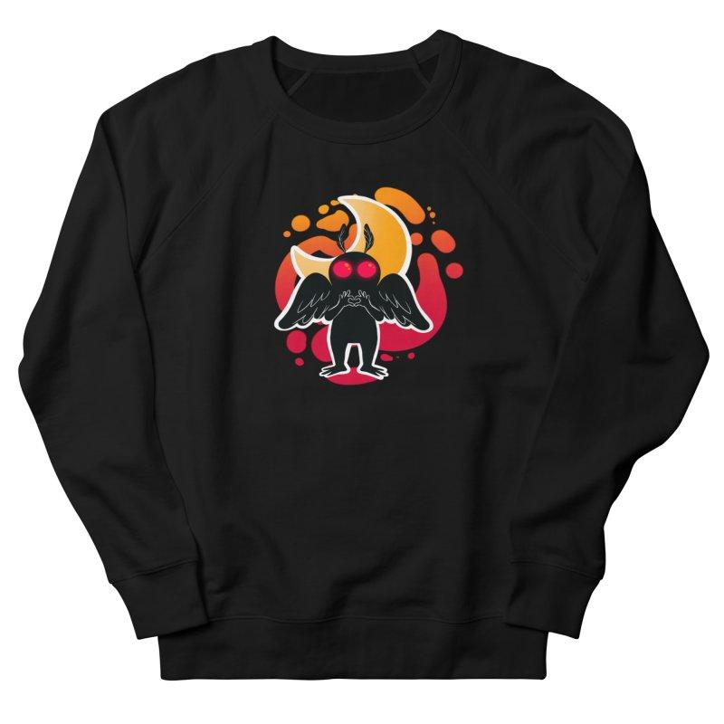 Mothman sends his love Men's French Terry Sweatshirt by AnimeGravy