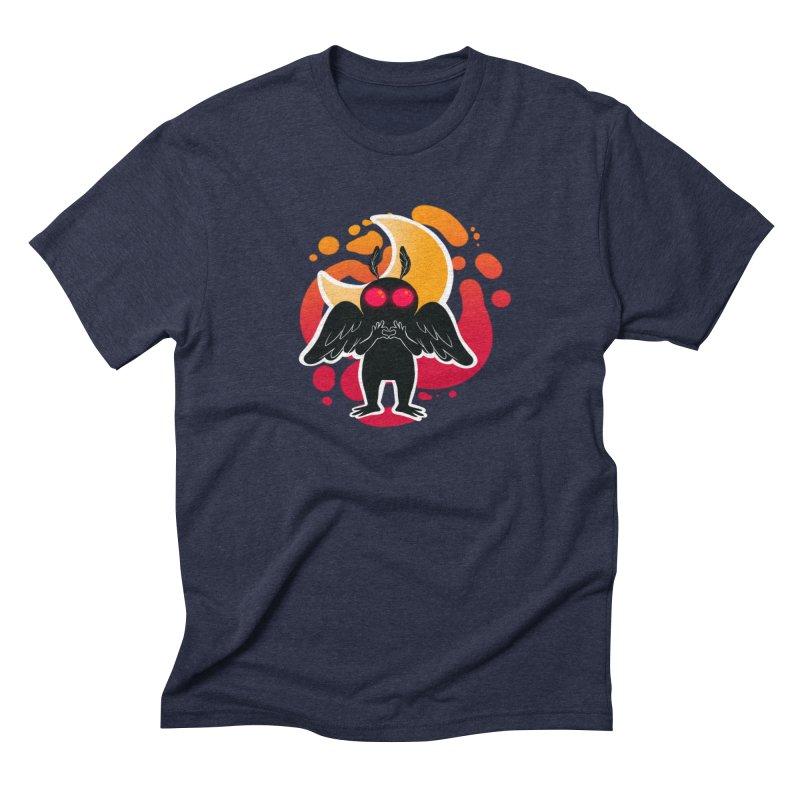 Mothman sends his love Men's Triblend T-Shirt by AnimeGravy