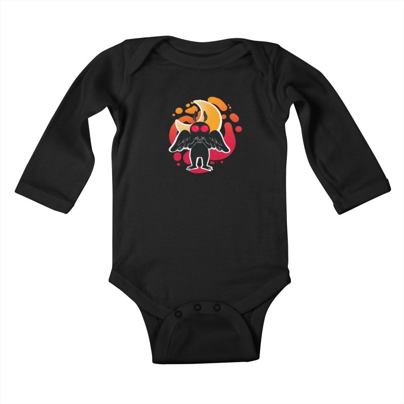 Mothman sends his love Kids Baby Longsleeve Bodysuit by AnimeGravy
