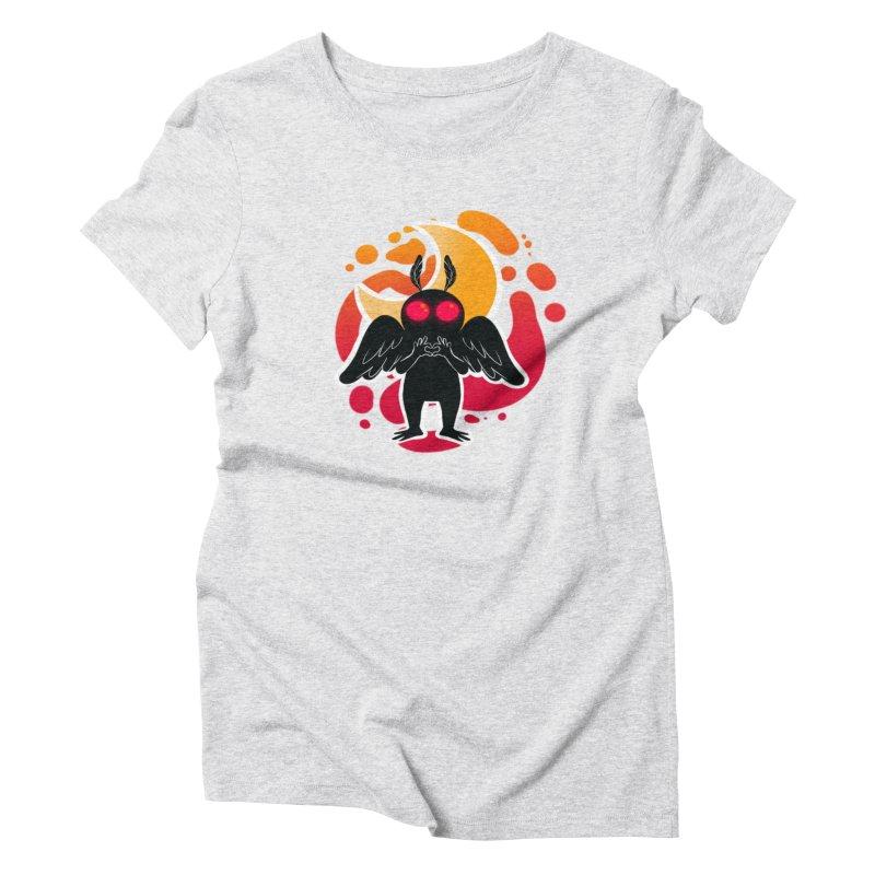Mothman sends his love Women's Triblend T-Shirt by AnimeGravy