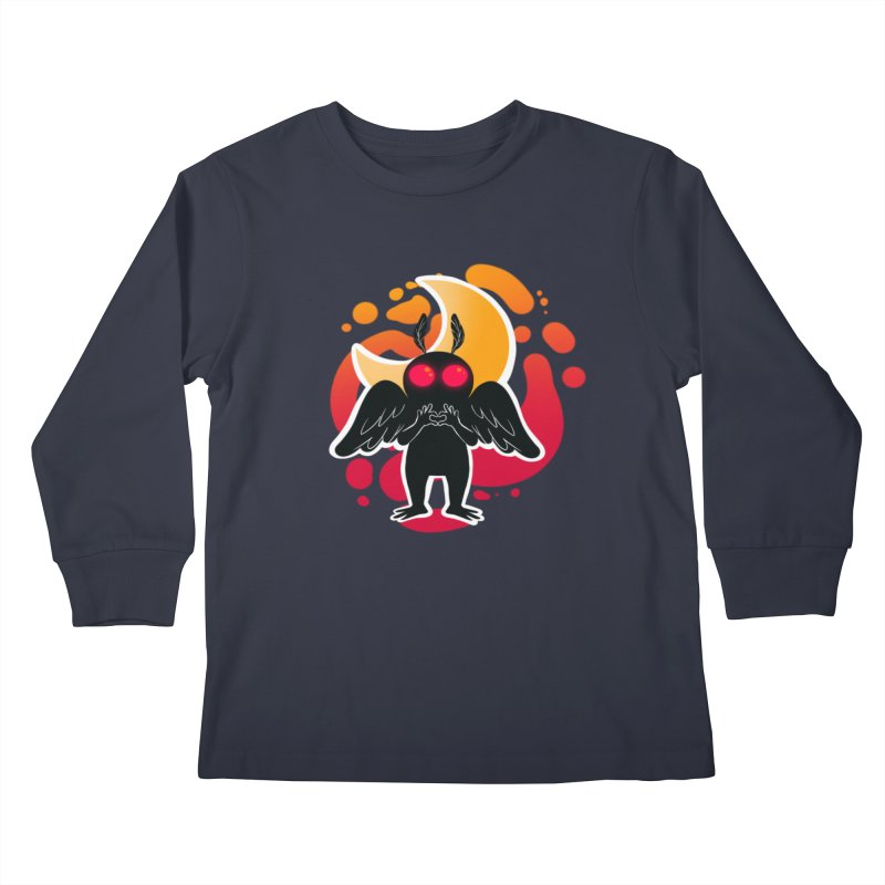 Mothman sends his love Kids Longsleeve T-Shirt by AnimeGravy