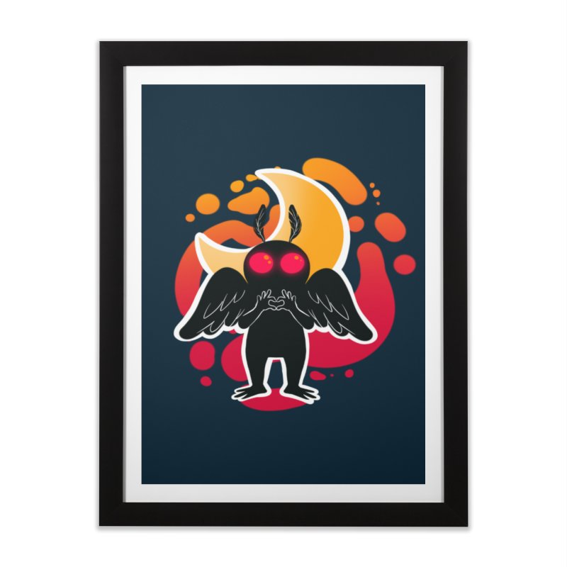 Mothman sends his love Home Framed Fine Art Print by AnimeGravy