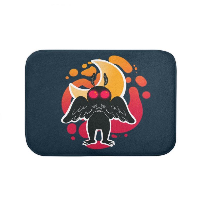 Mothman sends his love Home Bath Mat by AnimeGravy