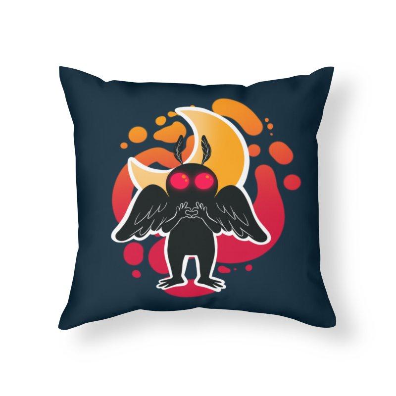 Mothman sends his love Home Throw Pillow by AnimeGravy