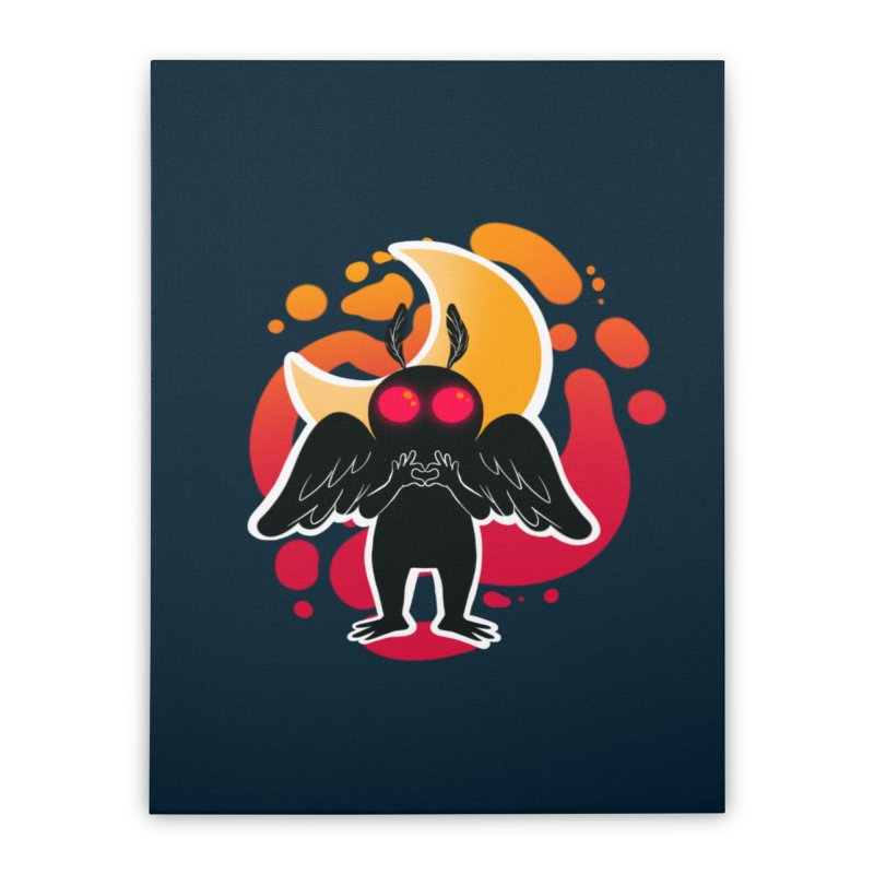 Mothman sends his love Home Stretched Canvas by AnimeGravy
