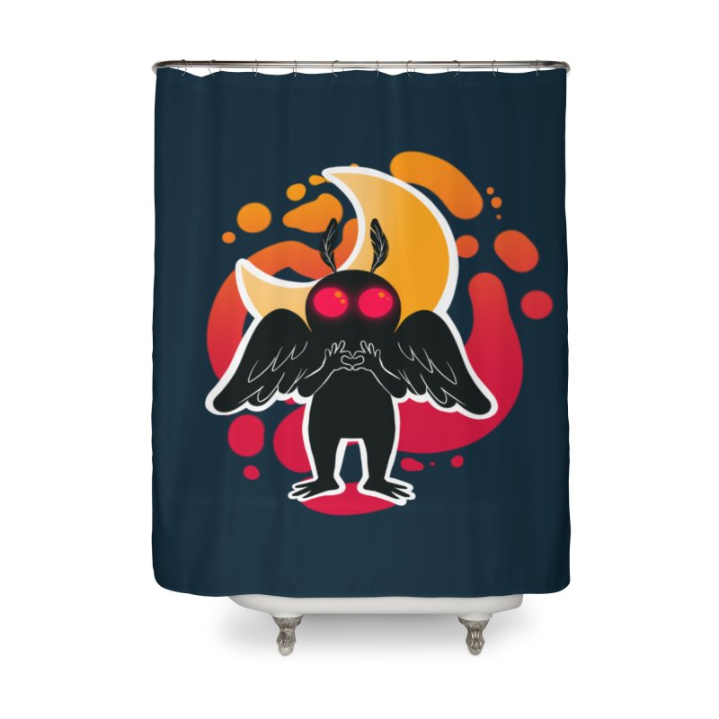 Mothman sends his love Home Shower Curtain by AnimeGravy