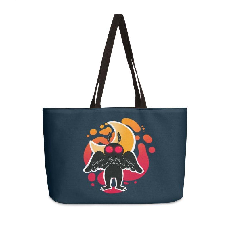 Mothman sends his love Accessories Weekender Bag Bag by AnimeGravy