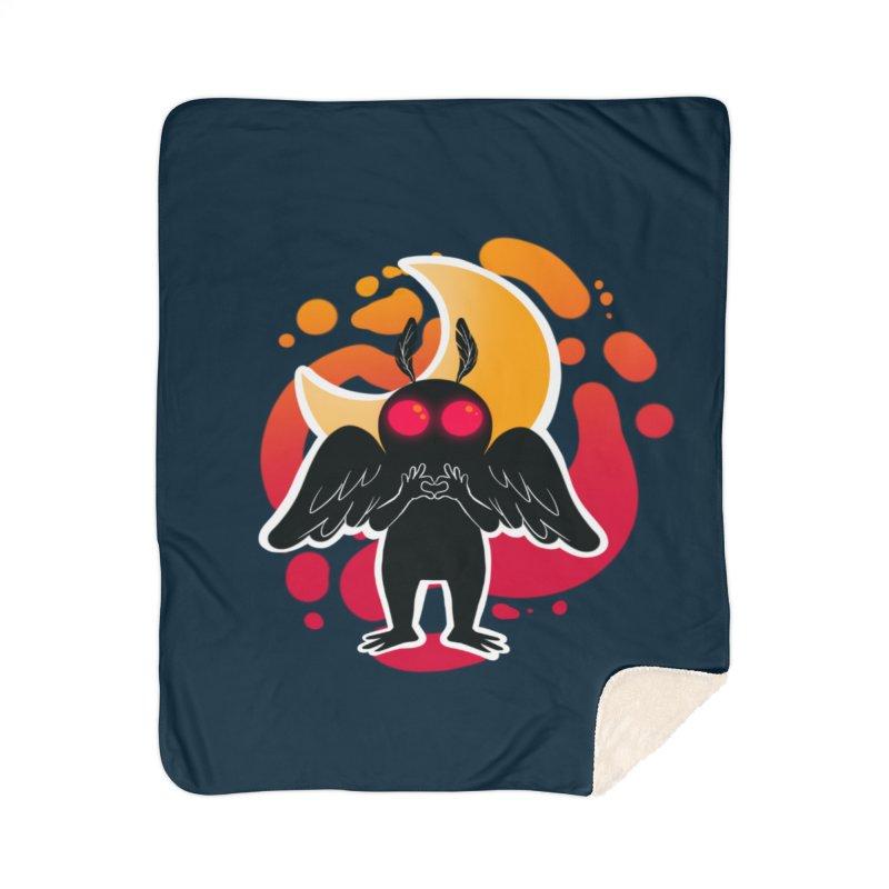 Mothman sends his love Home Sherpa Blanket Blanket by AnimeGravy