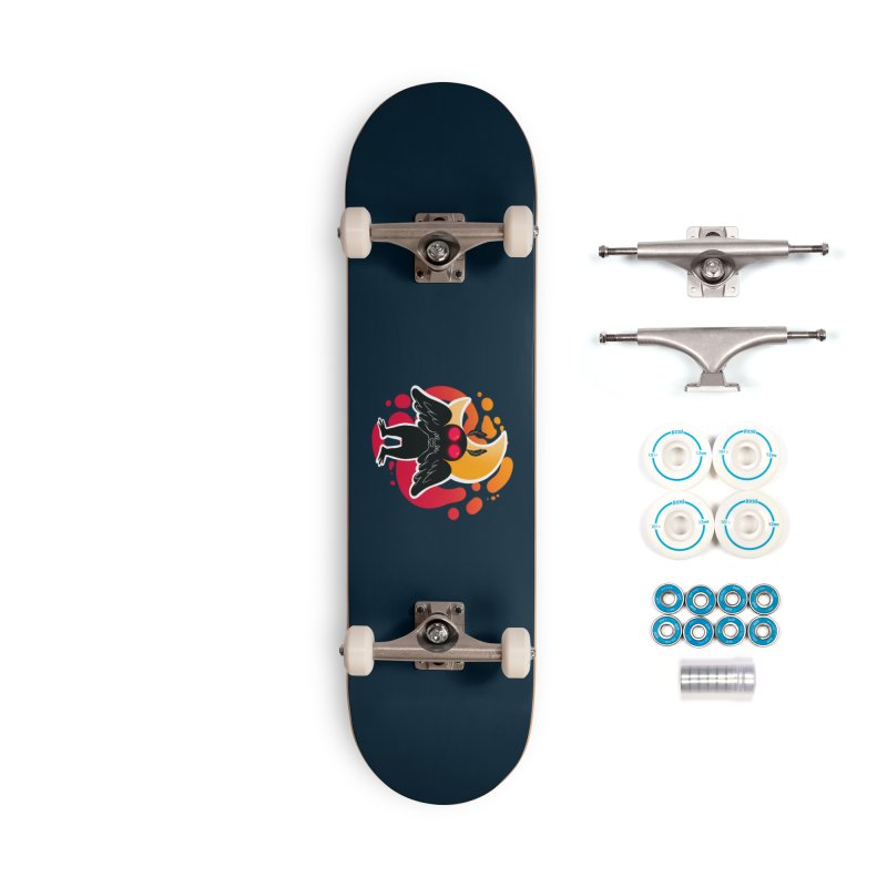 Mothman sends his love Accessories Complete - Basic Skateboard by AnimeGravy