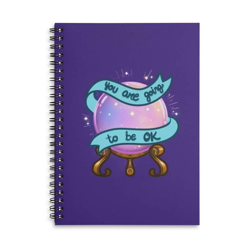 Crystal ball Accessories Lined Spiral Notebook by AnimeGravy