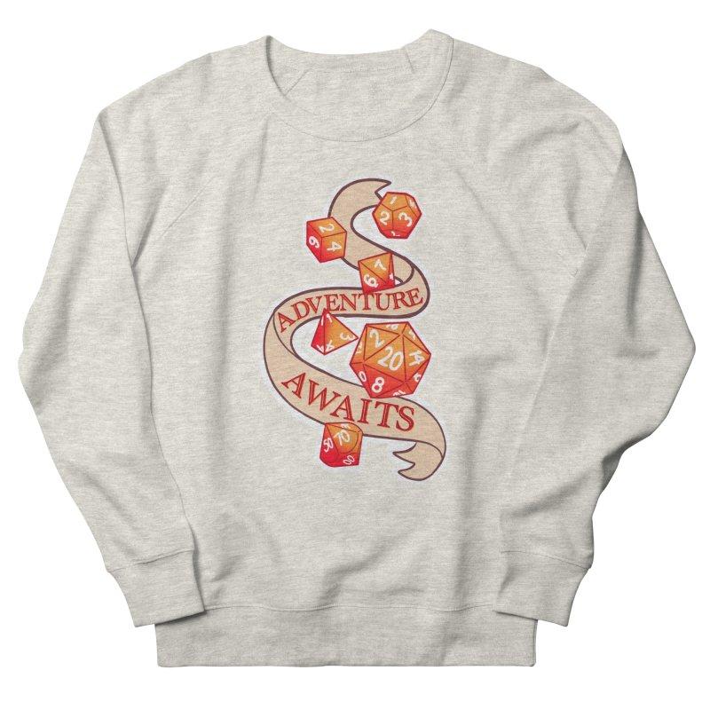 Dnd Adventure Awaits Men's French Terry Sweatshirt by AnimeGravy