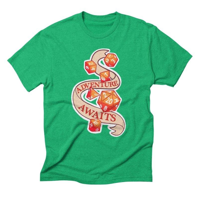 Dnd Adventure Awaits Men's Triblend T-Shirt by AnimeGravy