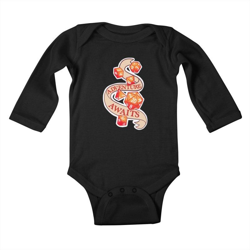 Dnd Adventure Awaits Kids Baby Longsleeve Bodysuit by AnimeGravy