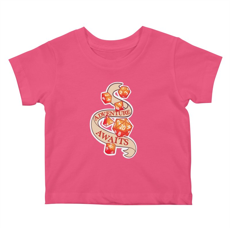 Dnd Adventure Awaits Kids Baby T-Shirt by AnimeGravy
