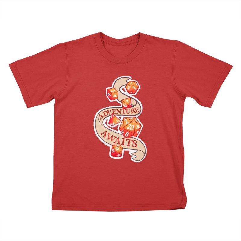 Dnd Adventure Awaits Kids T-Shirt by AnimeGravy