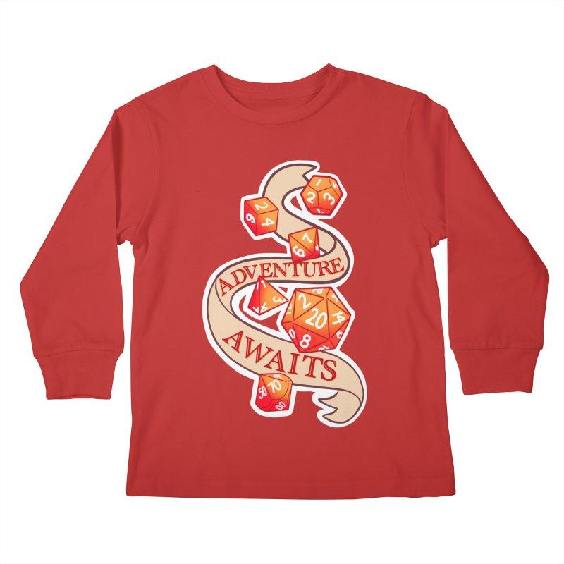 Dnd Adventure Awaits Kids Longsleeve T-Shirt by AnimeGravy