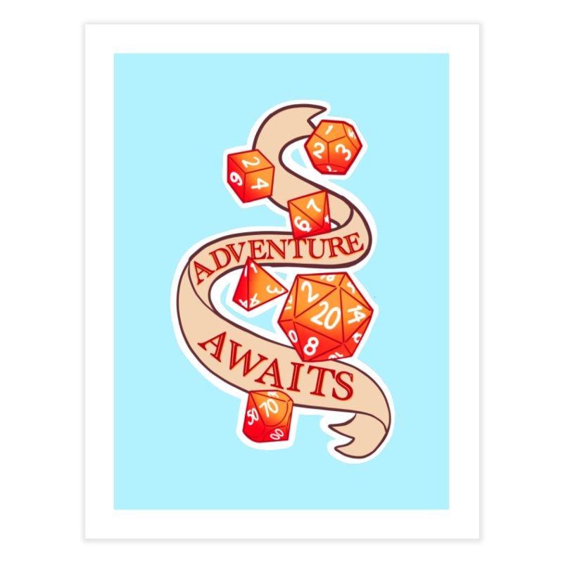 Dnd Adventure Awaits Home Fine Art Print by AnimeGravy