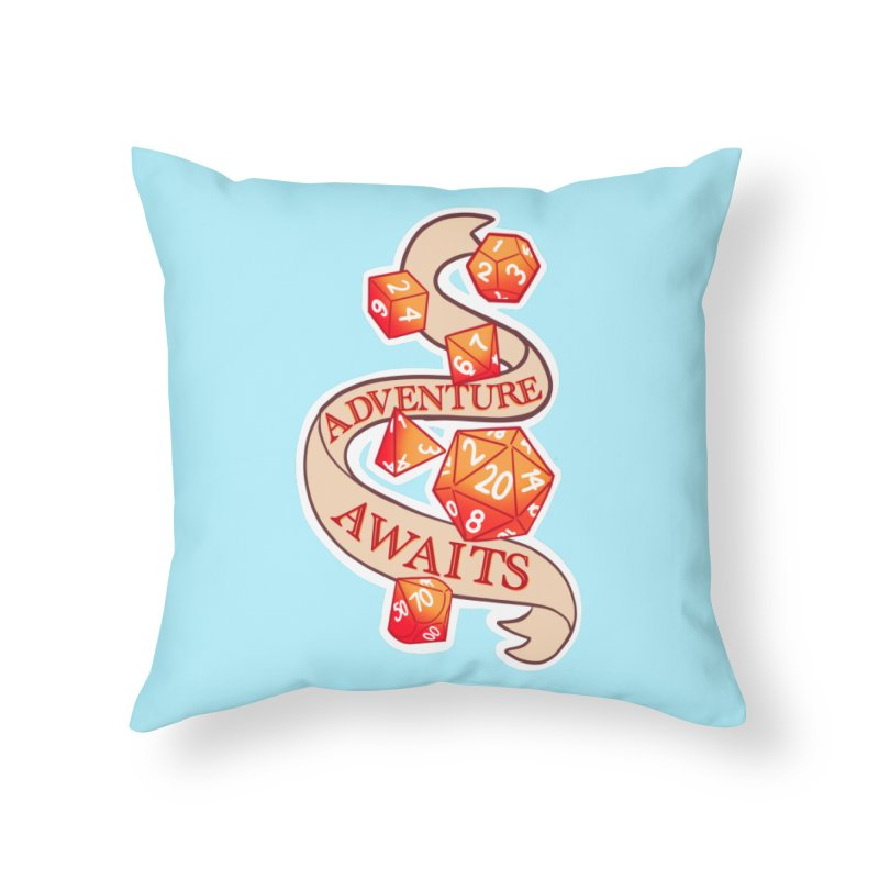 Dnd Adventure Awaits Home Throw Pillow by AnimeGravy