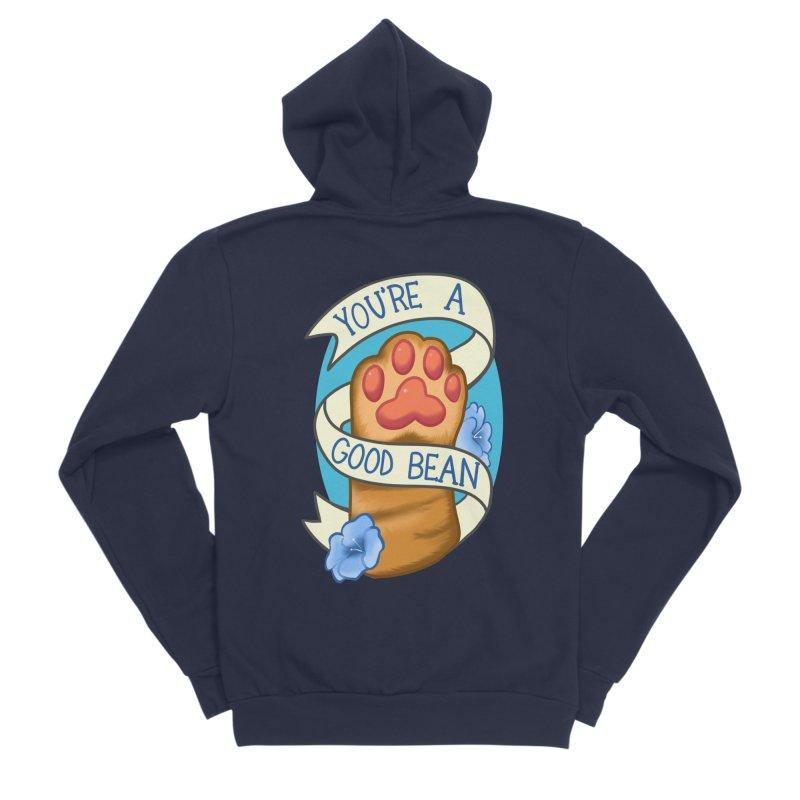 You're a good bean Men's Sponge Fleece Zip-Up Hoody by AnimeGravy