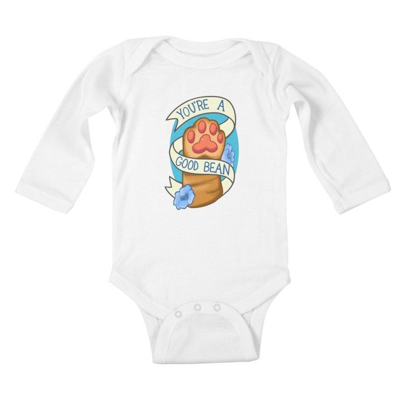 You're a good bean Kids Baby Longsleeve Bodysuit by AnimeGravy
