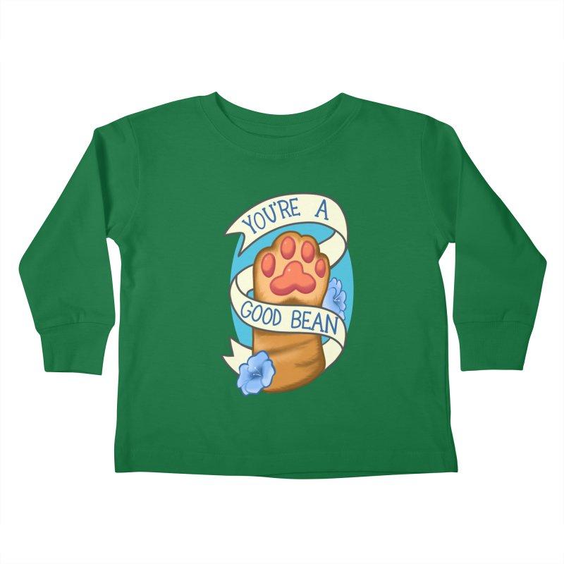 You're a good bean Kids Toddler Longsleeve T-Shirt by AnimeGravy