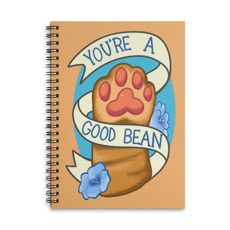 You're a good bean Accessories Lined Spiral Notebook by AnimeGravy