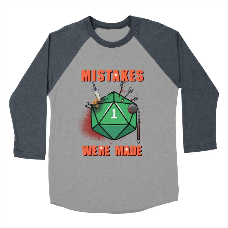 Mistakes were made Men's Baseball Triblend Longsleeve T-Shirt by AnimeGravy