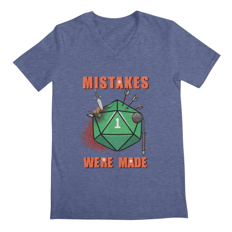 Mistakes were made Men's Regular V-Neck by AnimeGravy