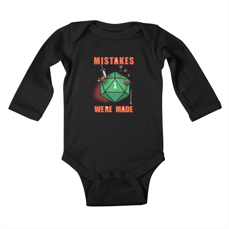 Mistakes were made Kids Baby Longsleeve Bodysuit by AnimeGravy