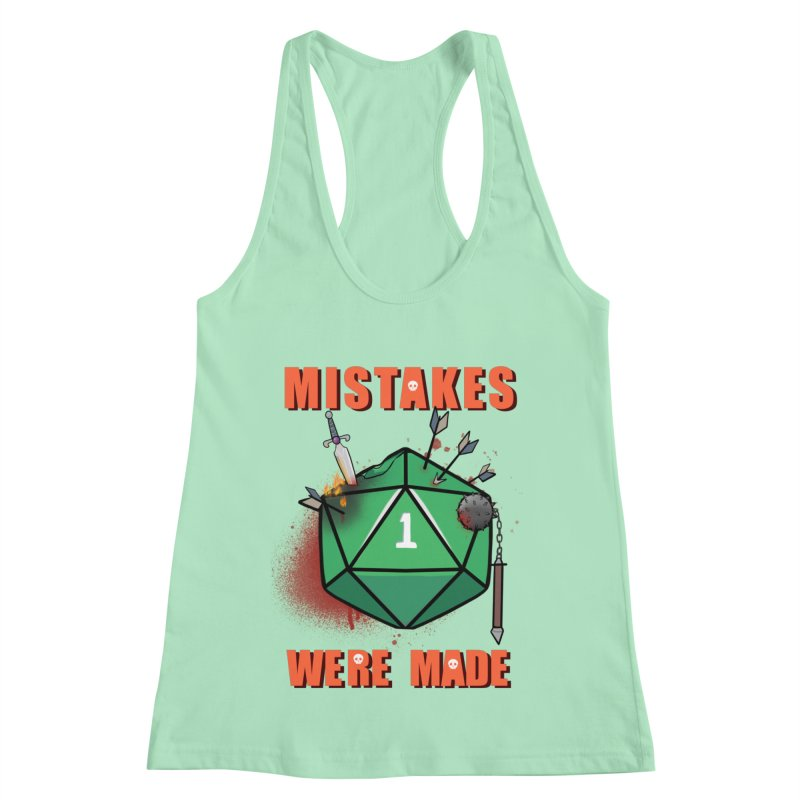 Mistakes were made Women's Racerback Tank by AnimeGravy
