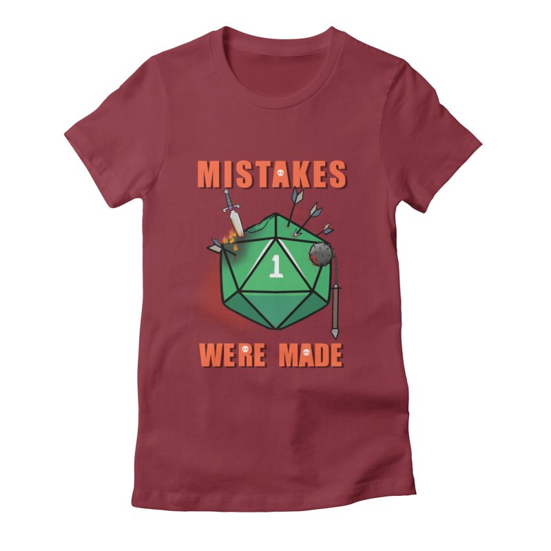 Mistakes were made Women's Fitted T-Shirt by AnimeGravy