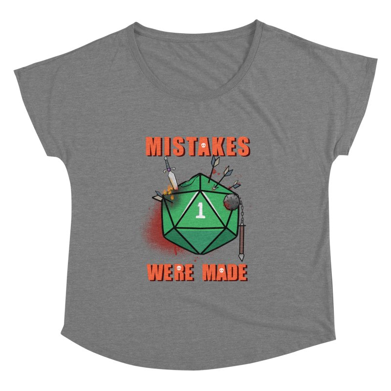 Mistakes were made Women's Scoop Neck by AnimeGravy