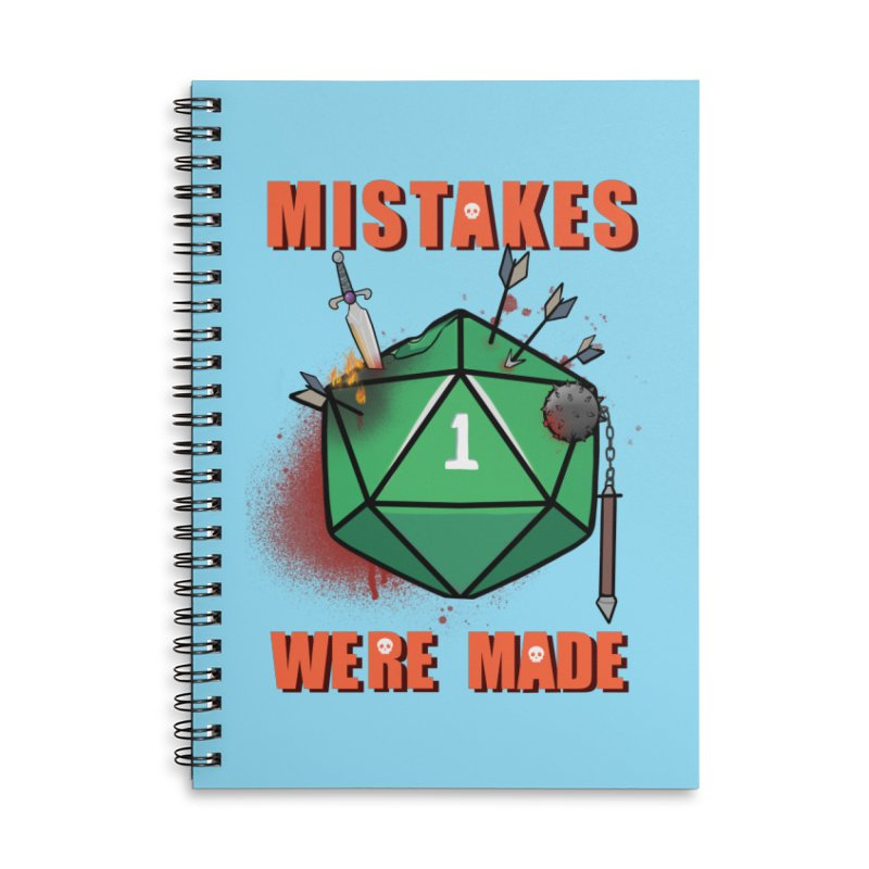 Mistakes were made Accessories Lined Spiral Notebook by AnimeGravy