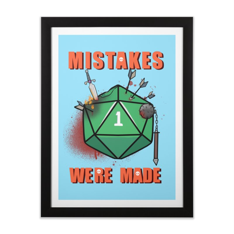 Mistakes were made Home Framed Fine Art Print by AnimeGravy