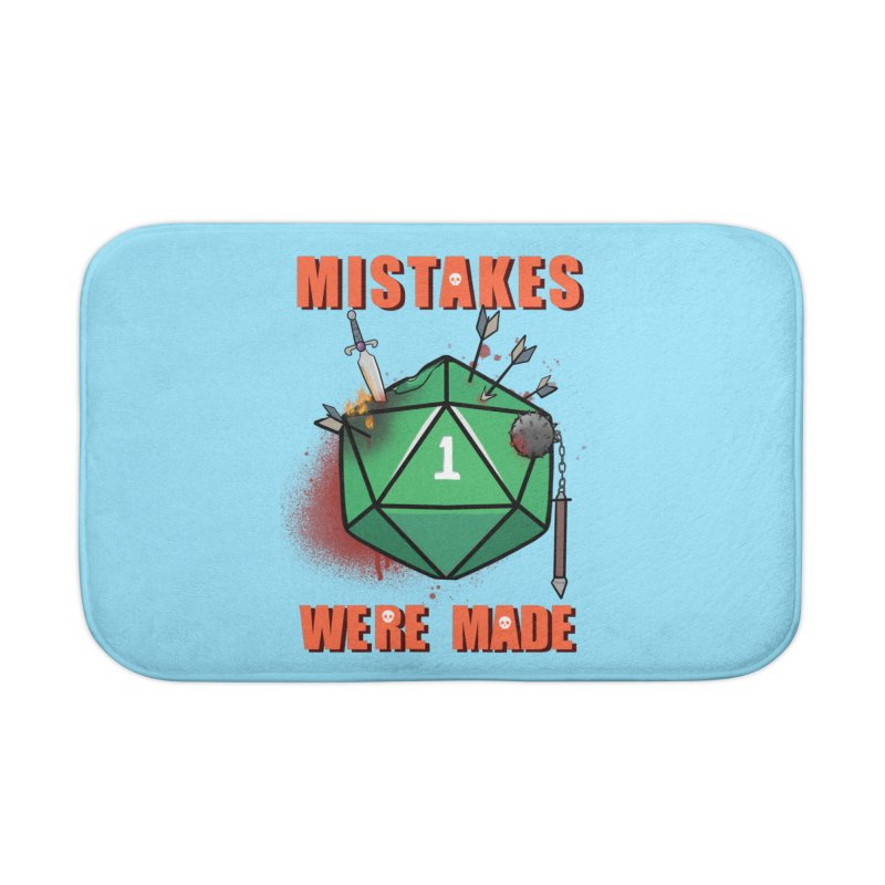 Mistakes were made Home Bath Mat by AnimeGravy