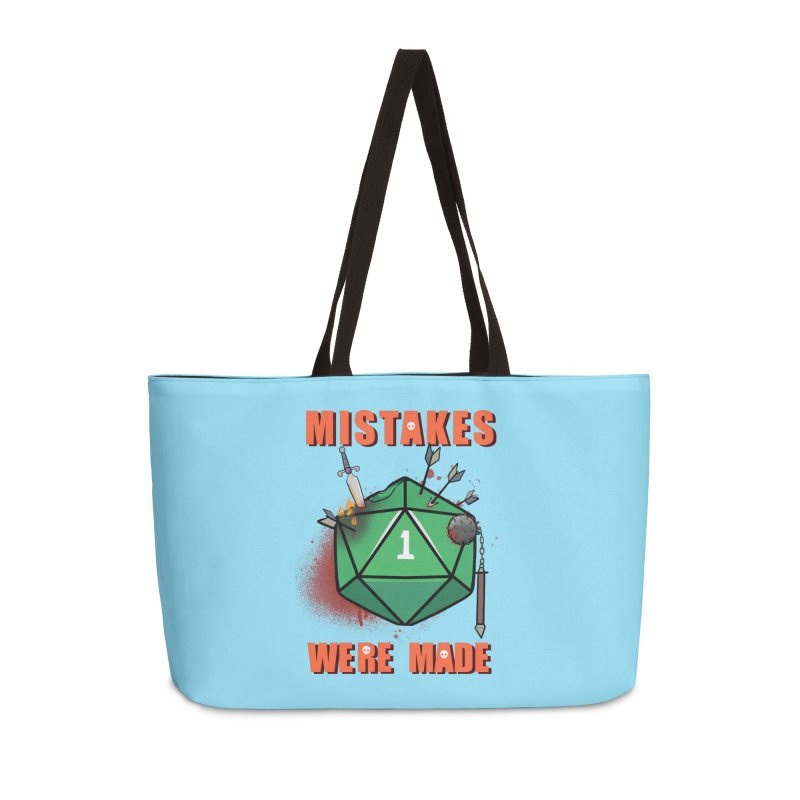 Mistakes were made Accessories Weekender Bag Bag by AnimeGravy