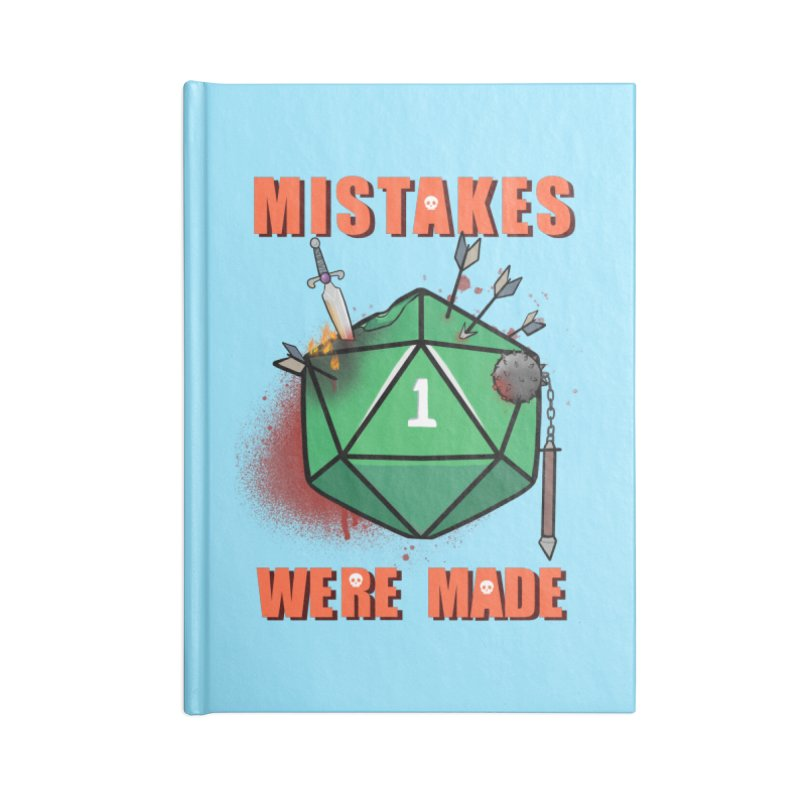 Mistakes were made Accessories Blank Journal Notebook by AnimeGravy