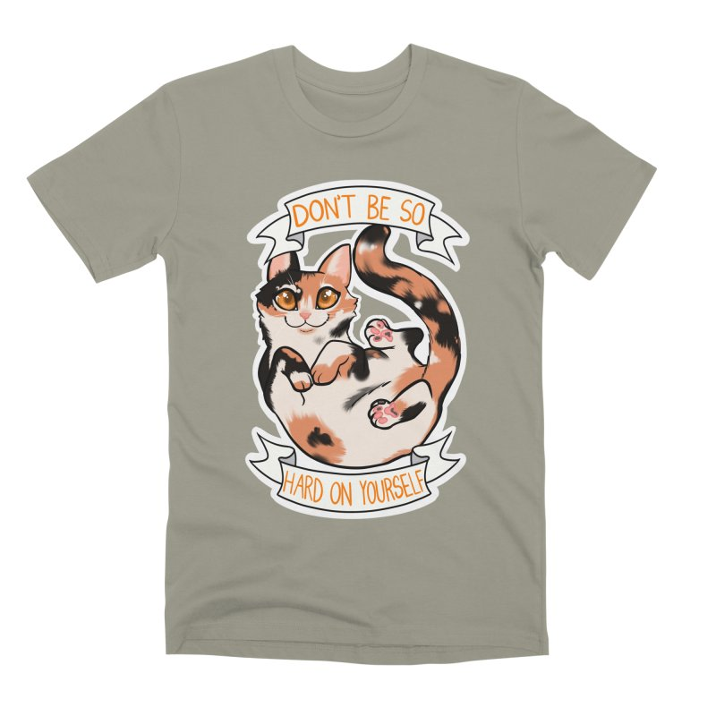 Don't be so hard on yourself Men's Premium T-Shirt by AnimeGravy