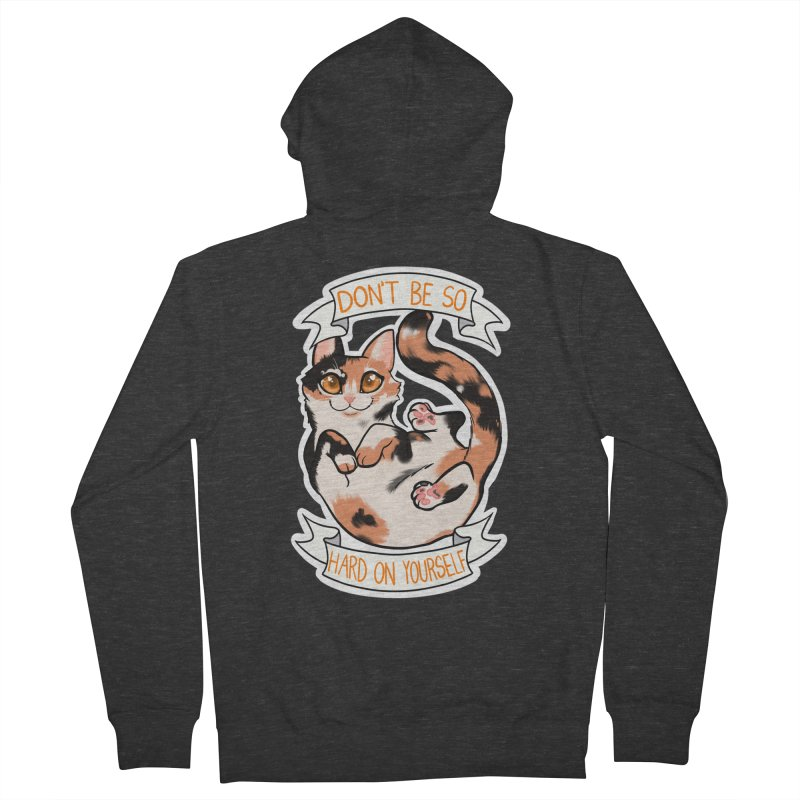 Don't be so hard on yourself Women's French Terry Zip-Up Hoody by AnimeGravy