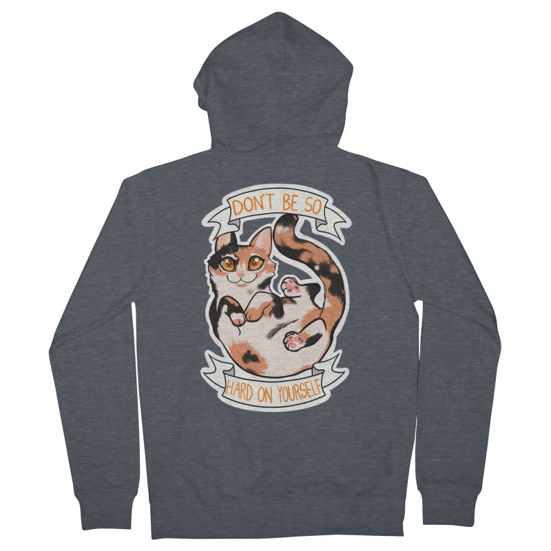 Don't be so hard on yourself Men's French Terry Zip-Up Hoody by AnimeGravy