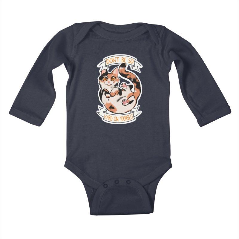 Don't be so hard on yourself Kids Baby Longsleeve Bodysuit by AnimeGravy