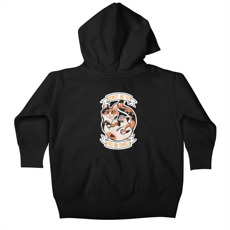 Don't be so hard on yourself Kids Baby Zip-Up Hoody by AnimeGravy