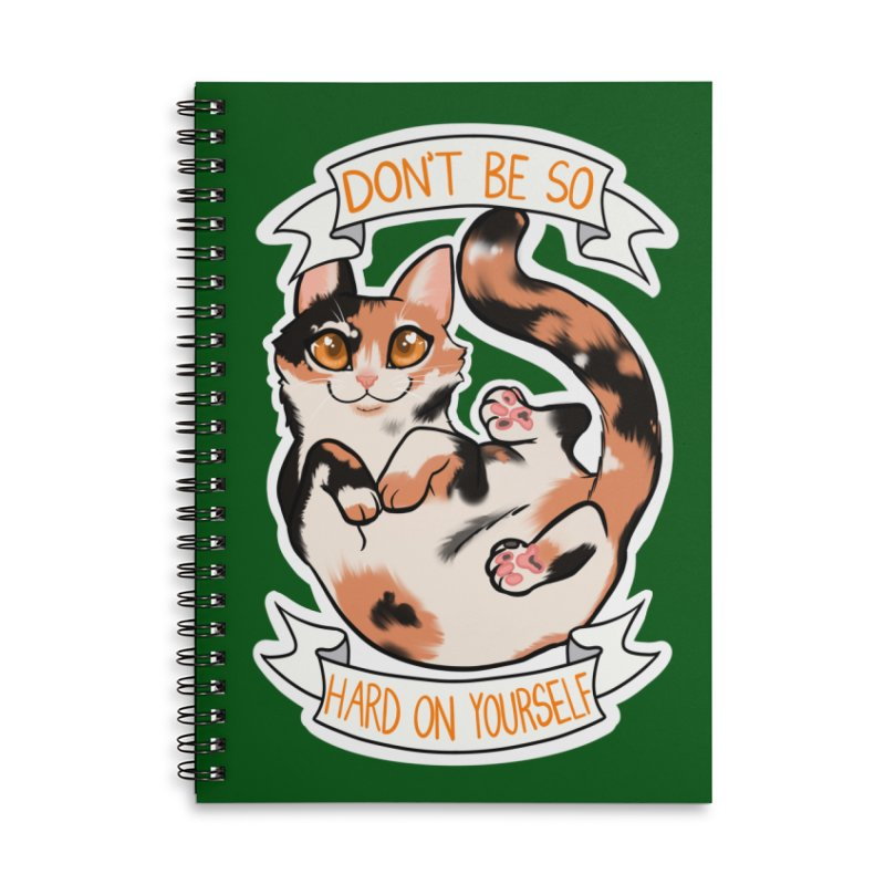 Don't be so hard on yourself Accessories Lined Spiral Notebook by AnimeGravy