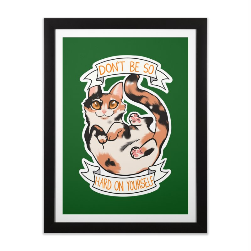 Don't be so hard on yourself Home Framed Fine Art Print by AnimeGravy