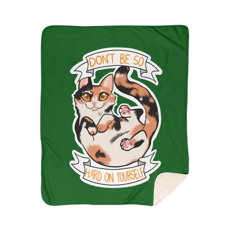 Don't be so hard on yourself Home Sherpa Blanket Blanket by AnimeGravy