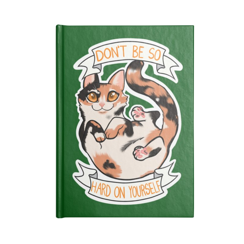 Don't be so hard on yourself Accessories Lined Journal Notebook by AnimeGravy