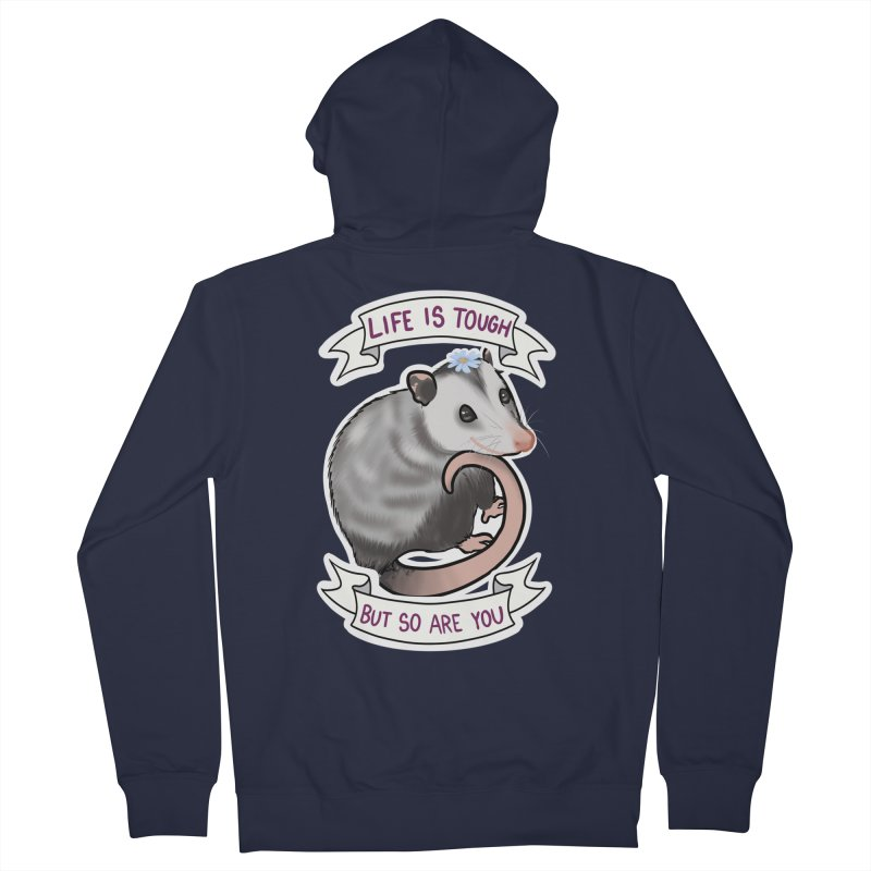 Youre tougher than you think Women's French Terry Zip-Up Hoody by AnimeGravy
